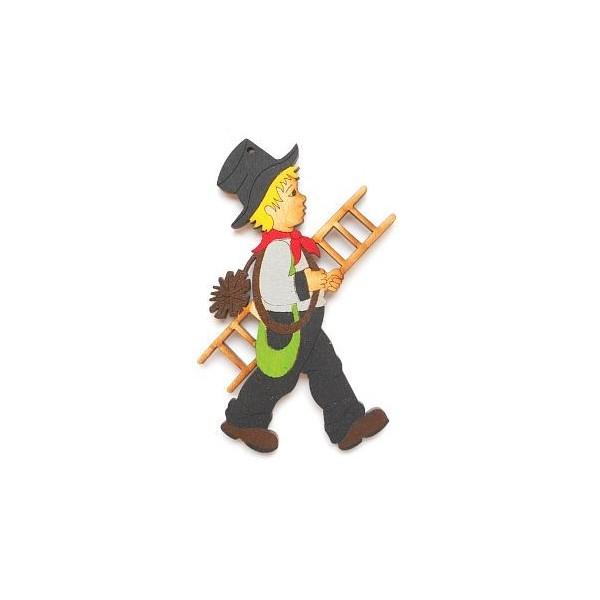 magnetka Kominík - dřevěné dekorace - dřevěné magnetky