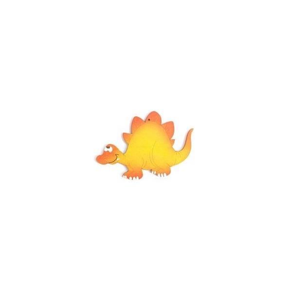 magnetka Stegosaurus oranžový - dřevěné dekorace - dřevěné magnetky