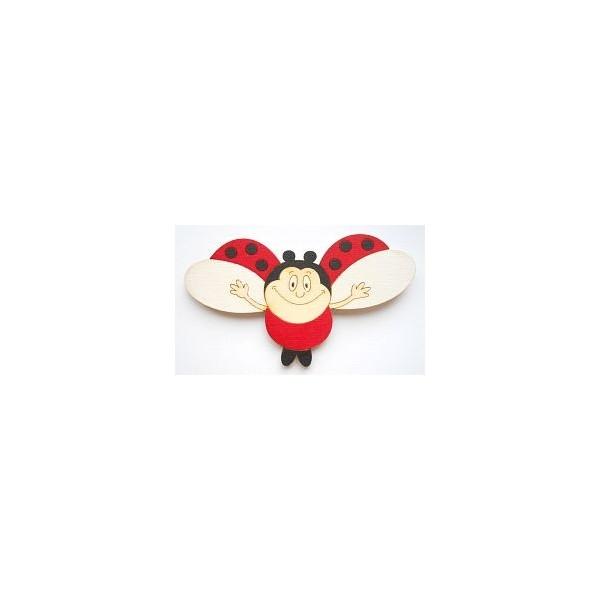 magnetka Beruška - dřevěné dekorace - dřevěné magnetky