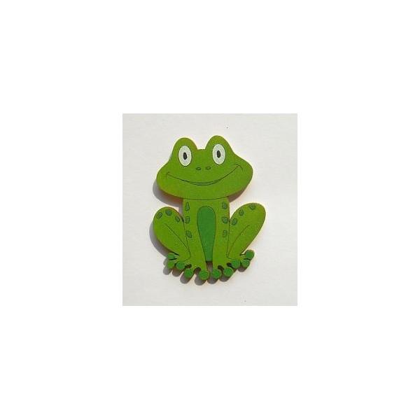 magnetka Žába - dřevěné dekorace - dřevěné magnetky