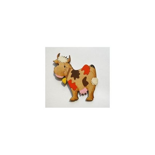 magnetka Kráva - dřevěné dekorace - dřevěné magnetky
