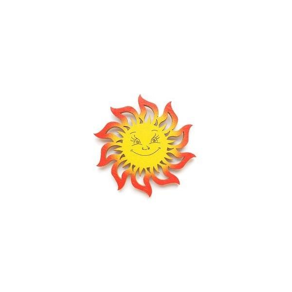 magnetka Sluníčko - dřevěné dekorace - dřevěné magnetky
