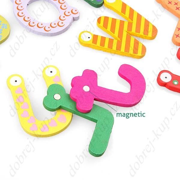 Magnetky ABECEDA - magnetická dřevěná dekorace