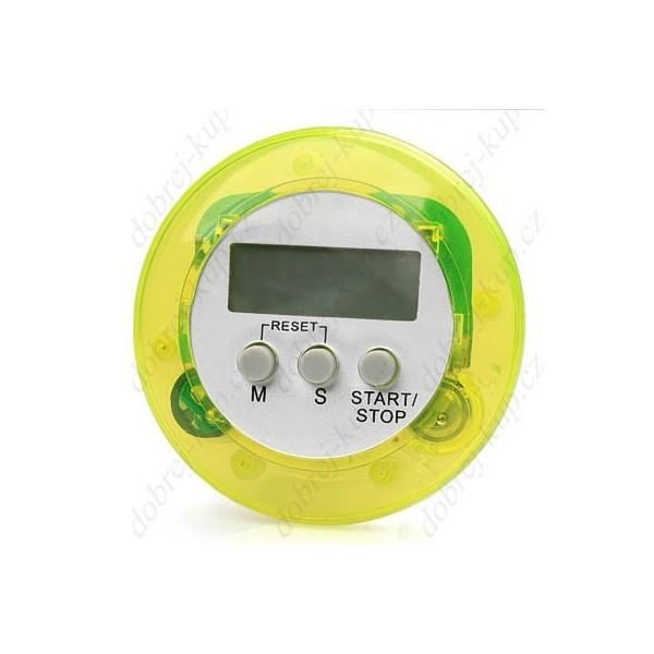 Kuchyňský časovač ALARM kulatý - zelený