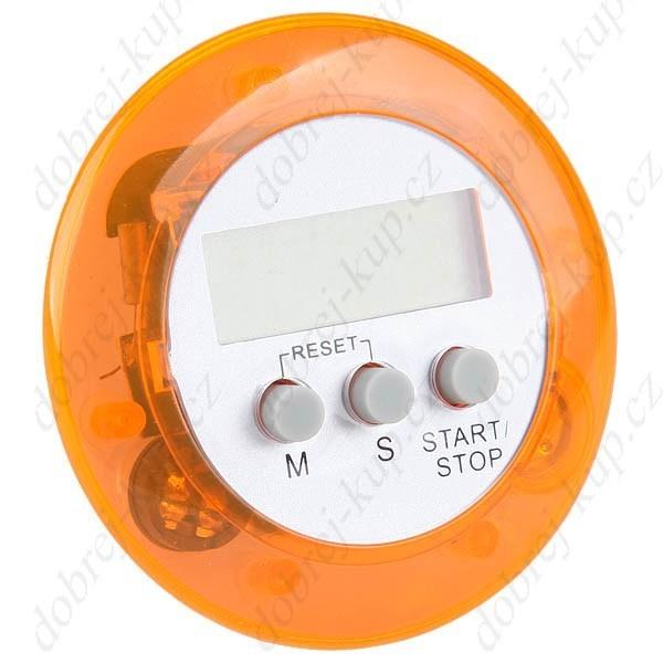 Kuchyňský časovač ALARM kulatý - oranžový