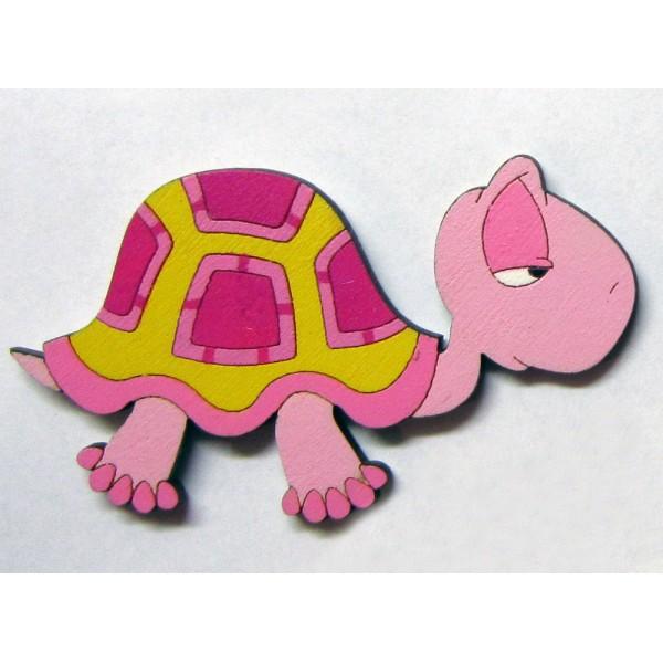 magnetka Želva - dřevěné dekorace - dřevěné magnetky