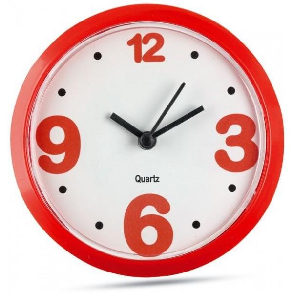 Magnetické nástěnné hodiny - červené