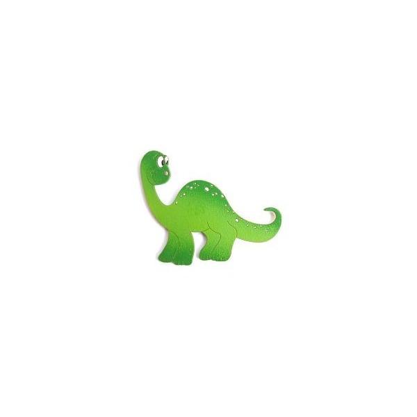 magnetka Brontosaurus zelený - dřevěné dekorace - dřevěné magnetky