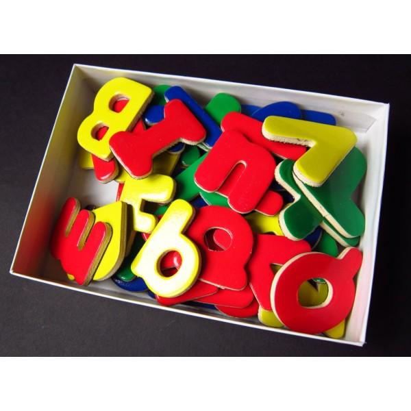 RaKonrad - Magnetky ABECEDA - 52 písmenek- magnetická písmenka - dřevěná dekorace