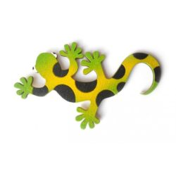 magnetka Mlok - žlutozelený - dřevěné dekorace - dřevěné magnetky