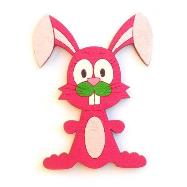 magnetka fialový Zajíc - dřevěné dekorace - dřevěné magnetky