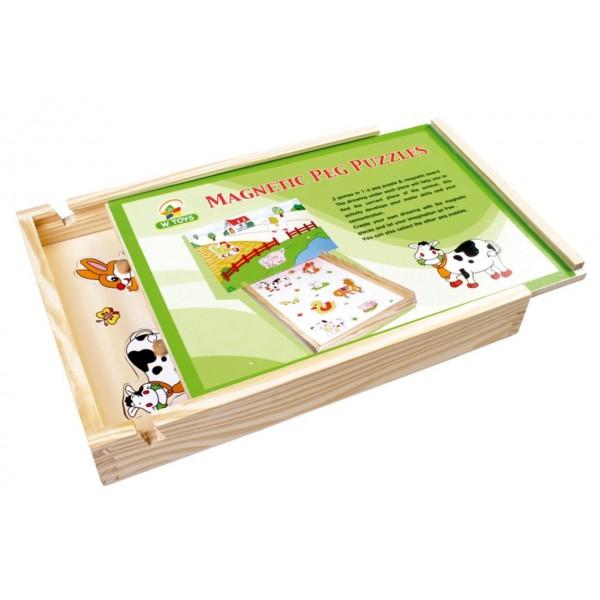 RaKonrad - Magnetické puzzle Farma