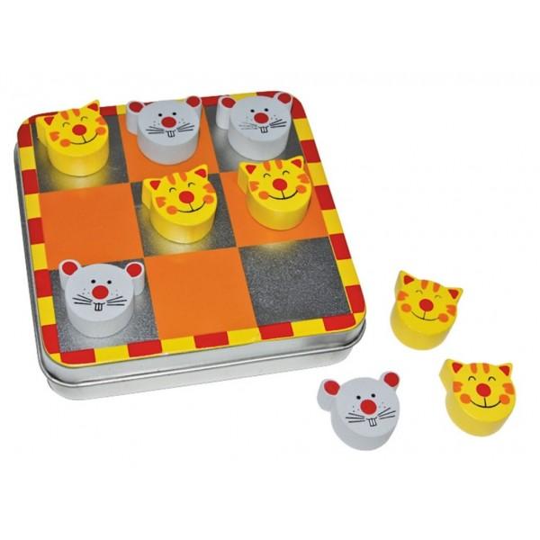 Magnetické piškvorky myš-kočka