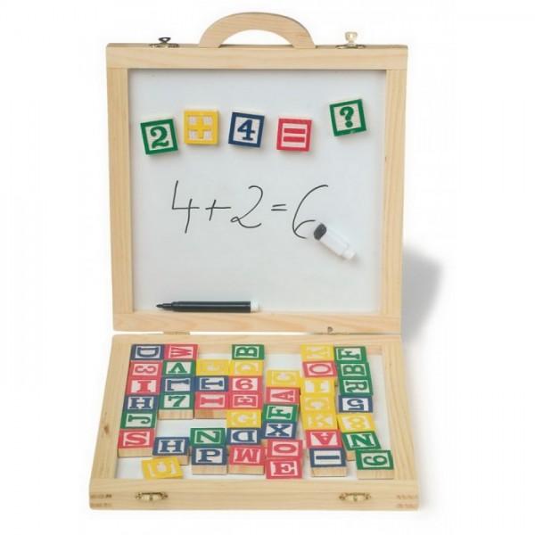 RaKonrad - Kufřík s tabulkou - Magnetická písmena