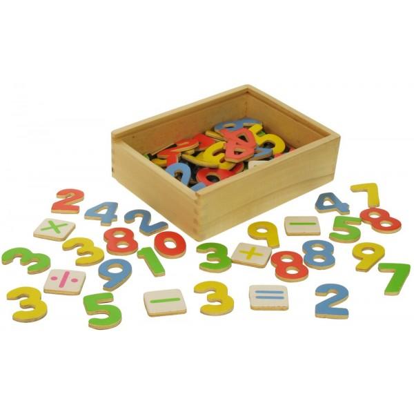 BIGJIGS - Magnetická čísla a znaky v krabičce - 85 dílů