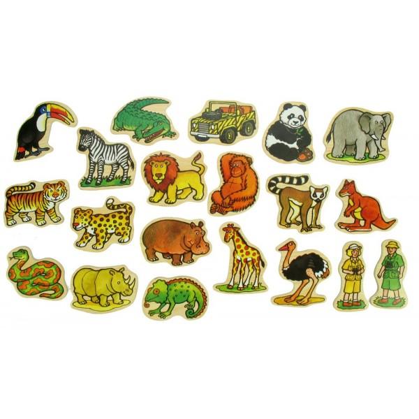 BIGJIGS - Dřevěné dekorace - dřevěné magnetky - Jungle