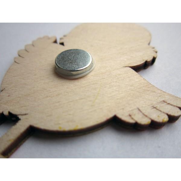 magnetka Čáp s miminkem - dřevěné dekorace - dřevěné magnetky