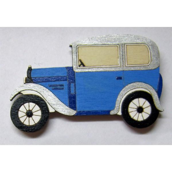 magnet Auto bugatka - dřevěné dekorace - dřevěné magnetky