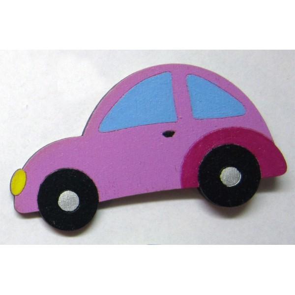magnet AUTO fialové - dřevěné dekorace - dřevěné magnetky