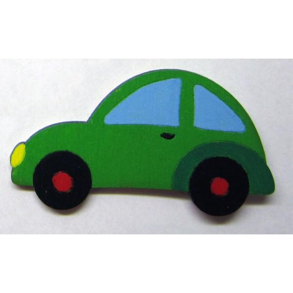 magnet AUTO zelené - dřevěné dekorace - dřevěné magnetky