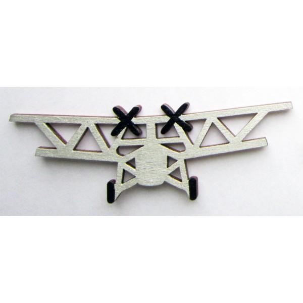 magnet LETADLO - dřevěné dekorace - dřevěné magnetky