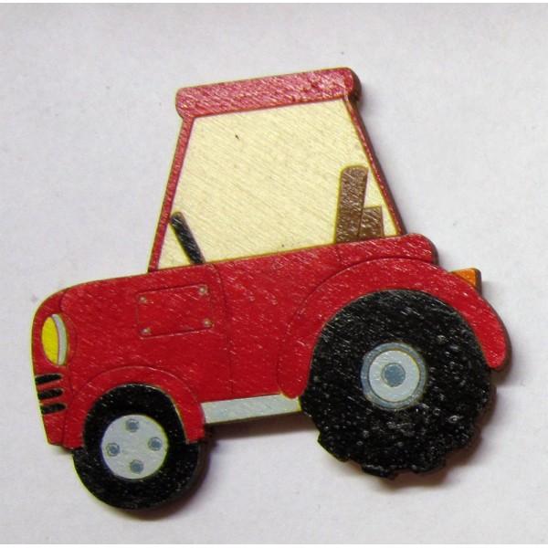magnet Traktor - dřevěné dekorace - dřevěné magnetky