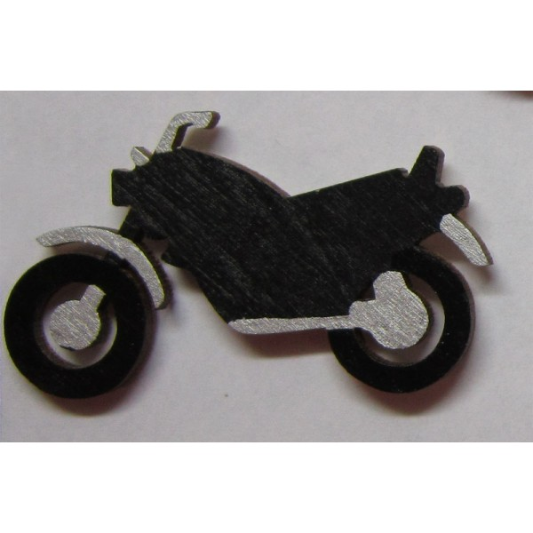 magnet Motocykl - dřevěné dekorace - dřevěné magnetky