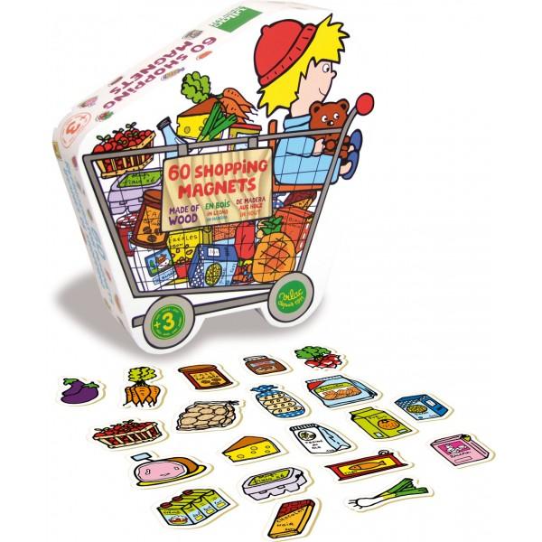 Hračky Vilac - Dřevěné magnetky potravin - 60ks